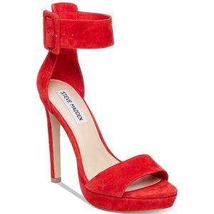 Steve Madden Circuit Two-Piece Sandals Red 7.5